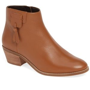 "NIB COLE HAAN Leather Bootie ""Joanna"" Tan Ankle"